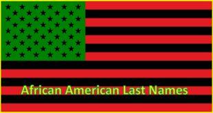 African American Last Names