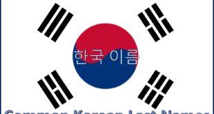 Common Korean Last Names