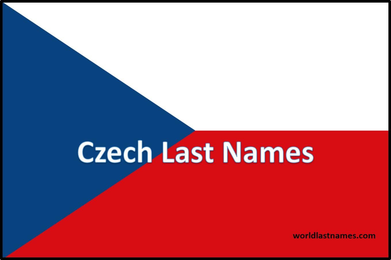 Czech Last Names Czech Flag