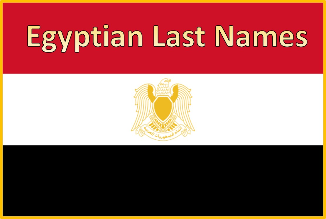Egyptian Last Names