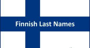 Finnish Last Names Finnish Finland Flag