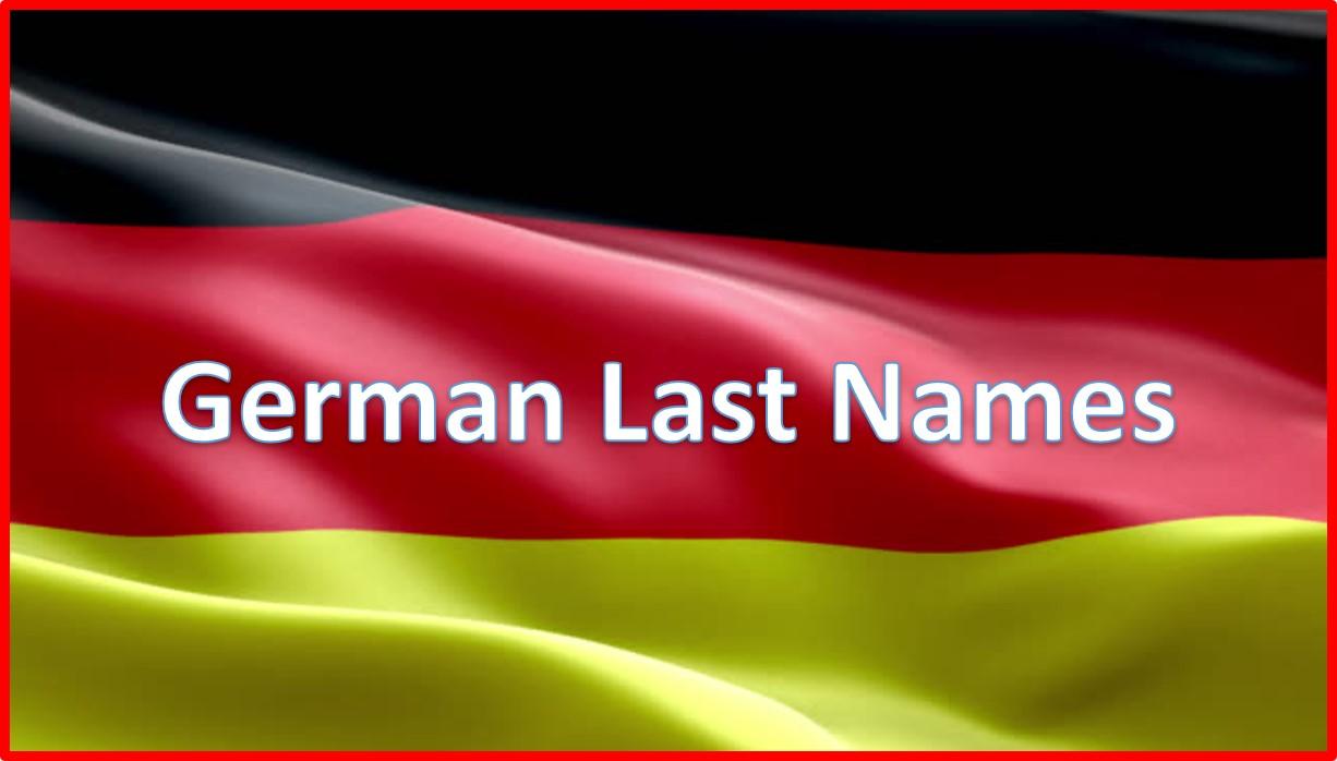 German Last Names