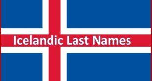 Icelandic Last Names