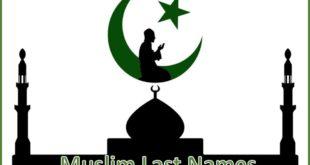 Muslim Last Names