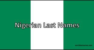 Nigerian Last Names