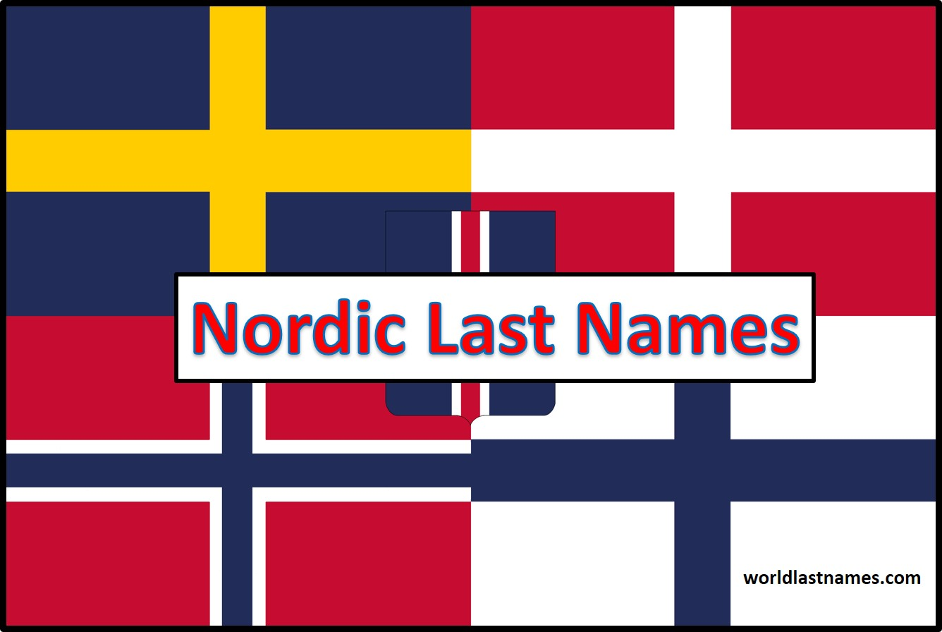 Nordic Last Names Nordic Flags
