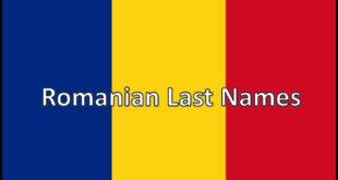 Romanian Last Names