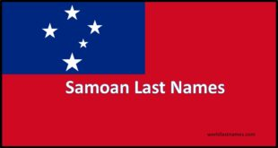 Samoan Last Names Samoan Flag Polynesia