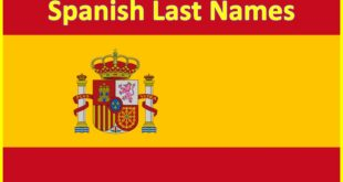 Spanish Last Names