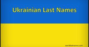 Ukrainian Last Names
