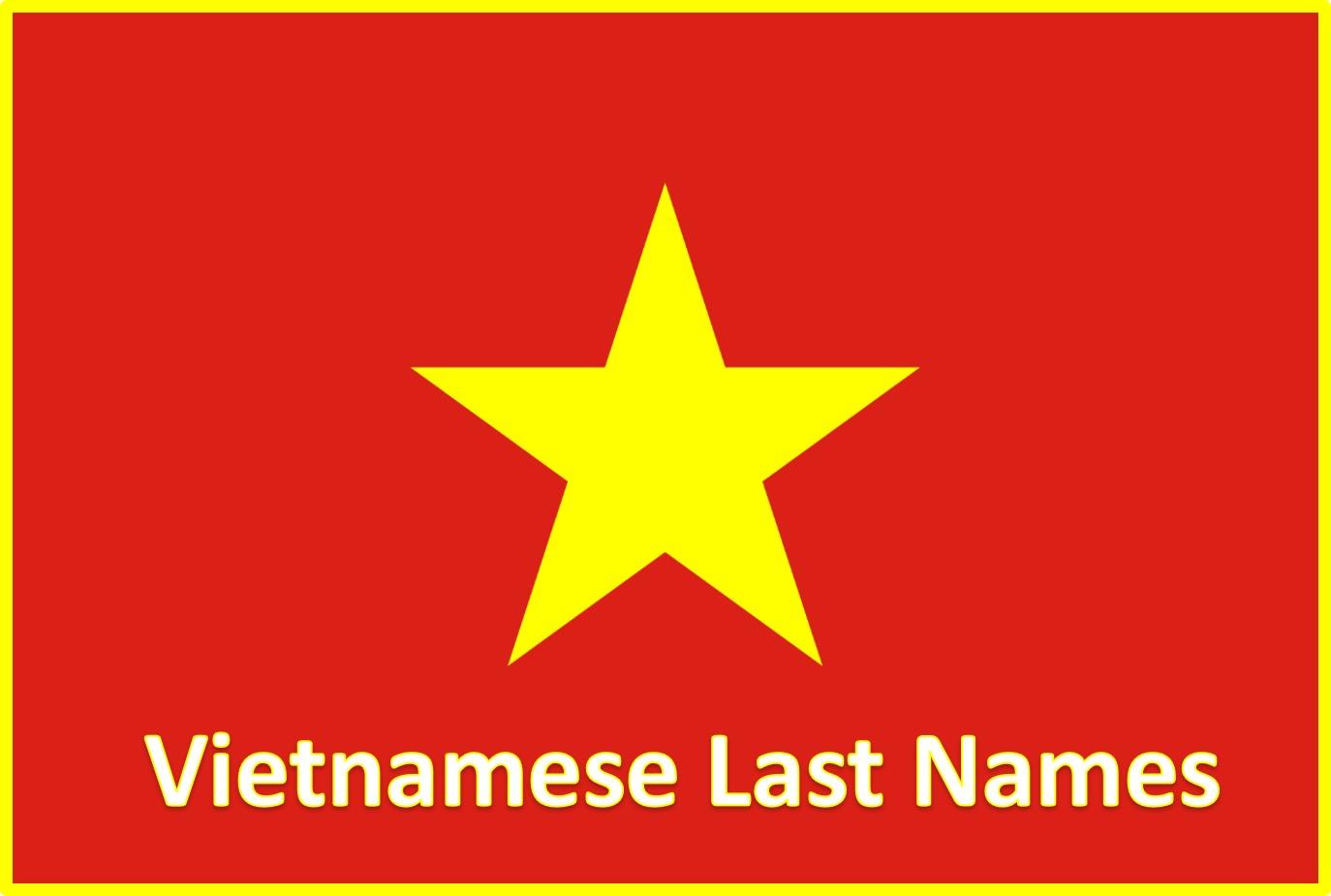 Vietnamese Last Names