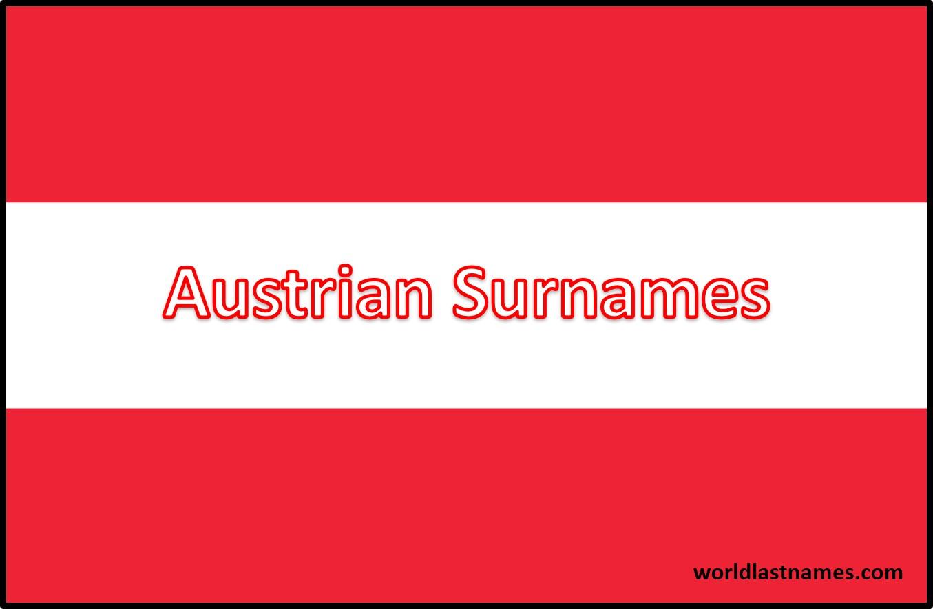 Austrian Surnames